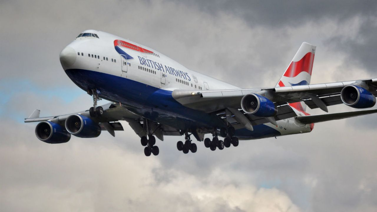 British Airways jumbo jet