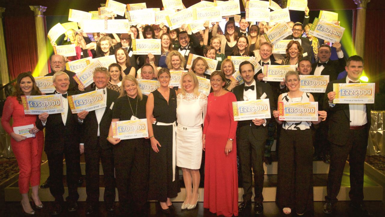 A group shot of the charities supported by the People's Postcode Lottery