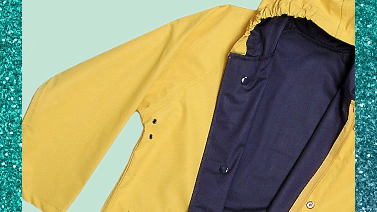 photo of yellow raincoat
