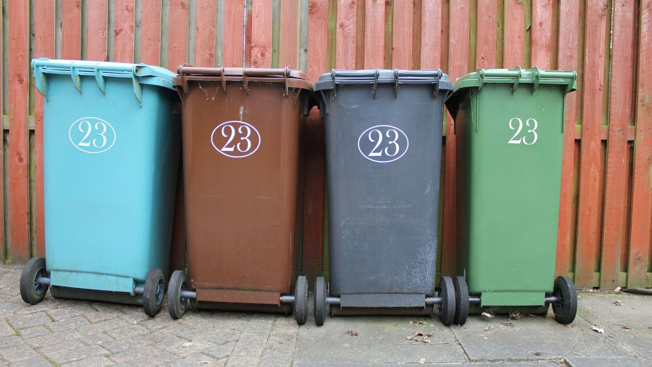 Wheelie bins for recycling, garden waste and refuse