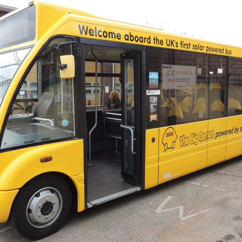The Big Lemon bus company launching the UK's first solar-powered bus in Brighton