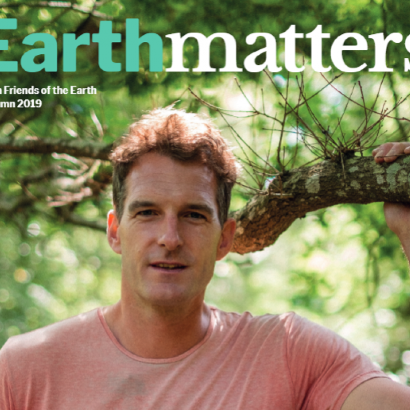 Earthmatters Autum 2019 cover featuring Dan Snow