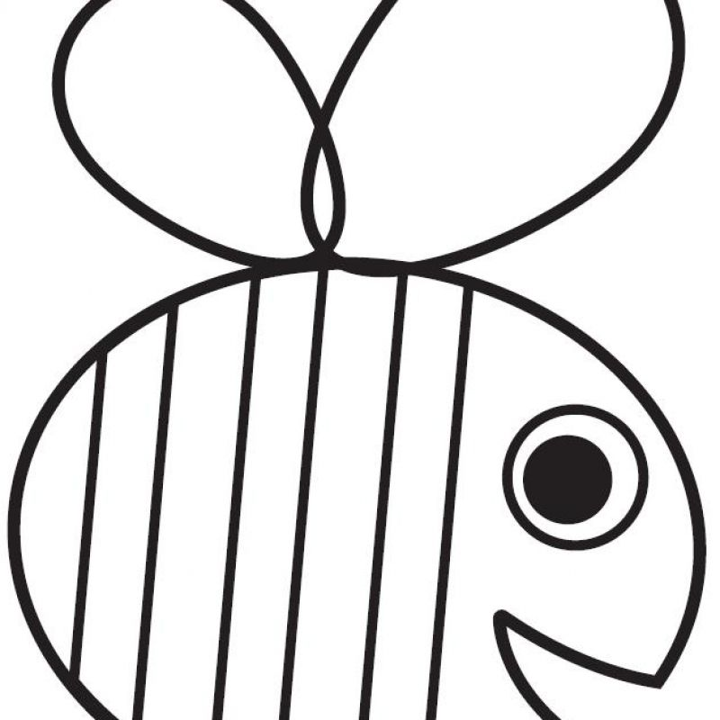 Honey bee colouring sheet