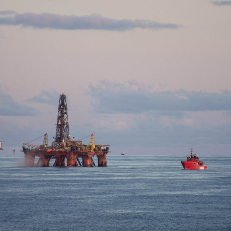 photo of north sea oil rig