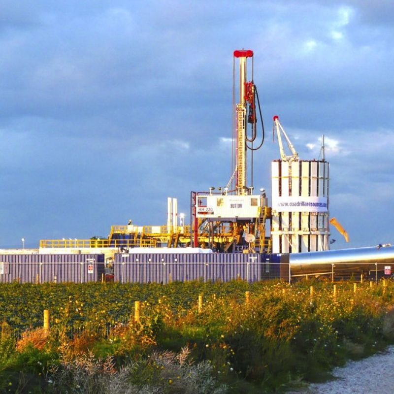 Cuadrilla fracking site near Southport Lancashire