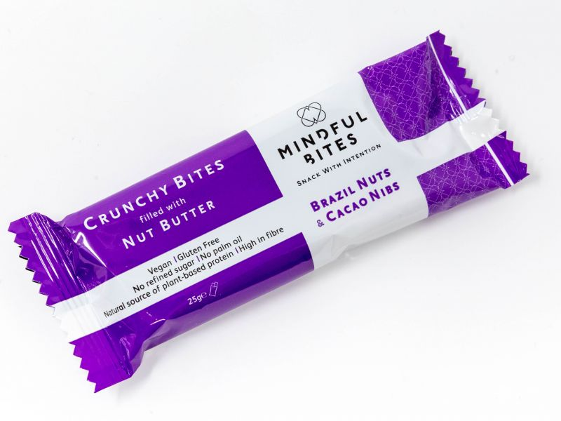 A Mindful Bites energy bar snack that doesn't contain palm oil