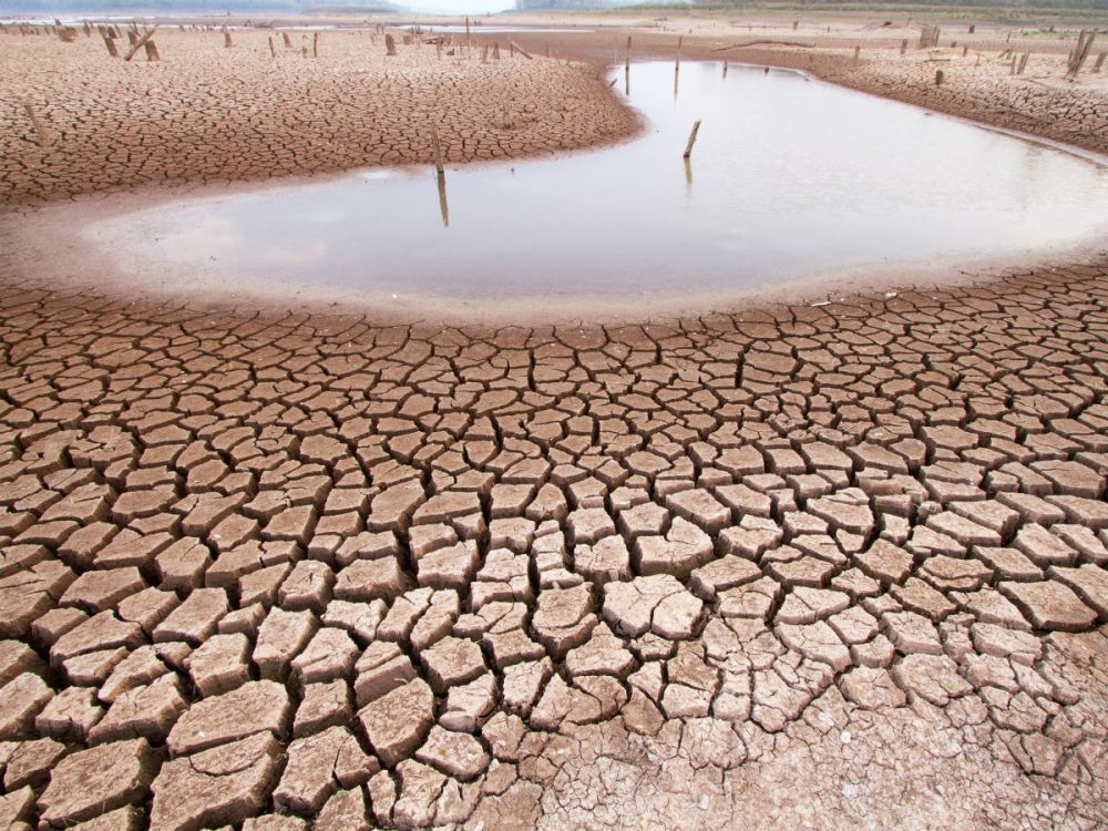 Climate change drought land