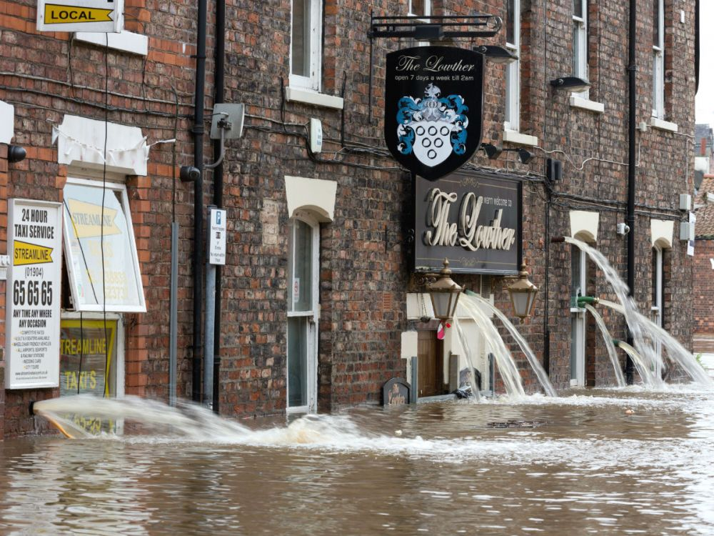 Flooded streets of York
