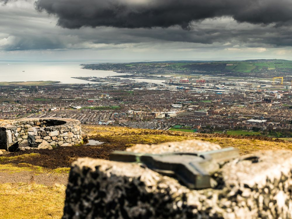 photo of Belfast, Northern Ireland, from Black Mountain