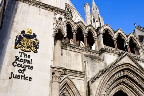 External view of  the Royal Courts of Justice building, London