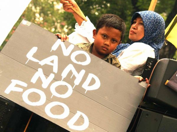 No land no food