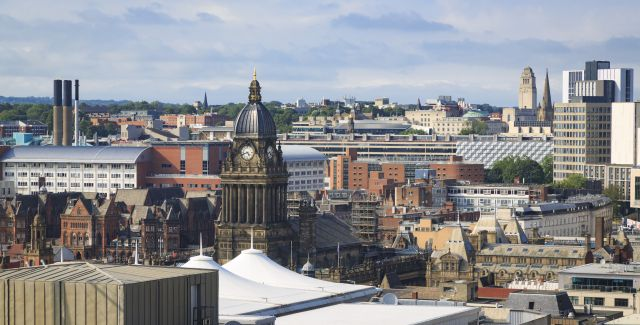 Aerial picture of Leeds City Centre