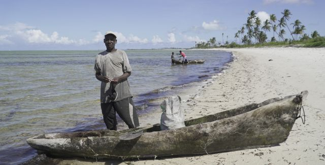Fisherman in Cabo Delgado, Mozambique