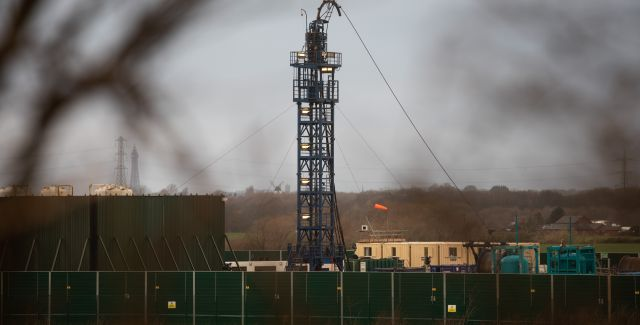 Cuadrilla's fracking rig at Preston New Road, Lancashire