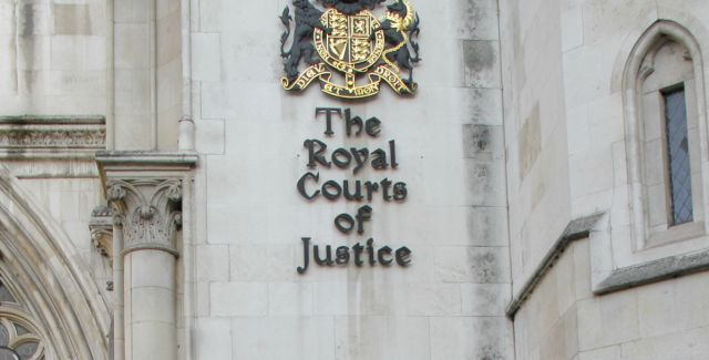Close up of the High Court in the UK