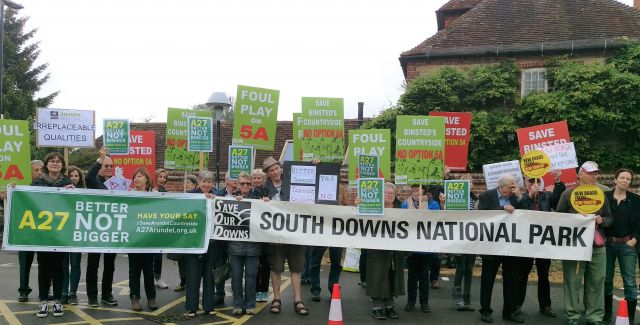 Protest rally against the Arundel Bypass