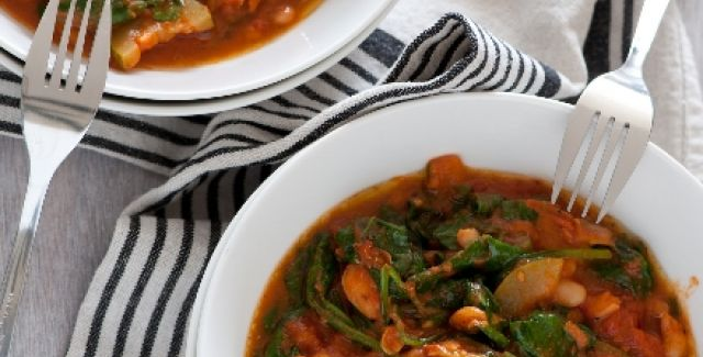 Two bowls of vegetarian stew